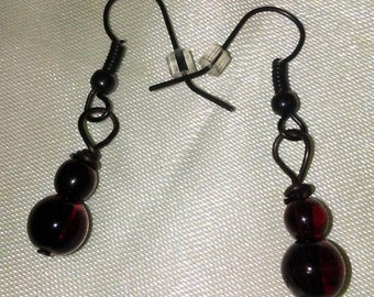 Goth Earrings, Red Earrings, Goth Style, Blood Red Earrings, Goth Jewelry, Alternative Earrings, Blood Red Jewelry, Alternative Fashion