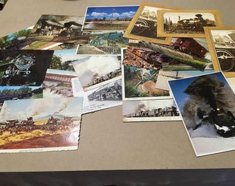 Lot of 26 Vintage Train Related Postcards