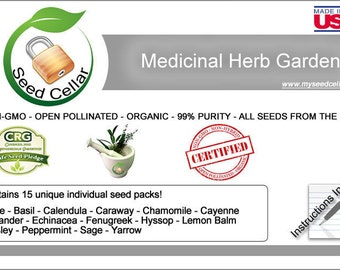 Medicinal Herb Bank- 15 Herbs for Healing! | Organic- Natural ways to heal your ailments! Easy to grow!