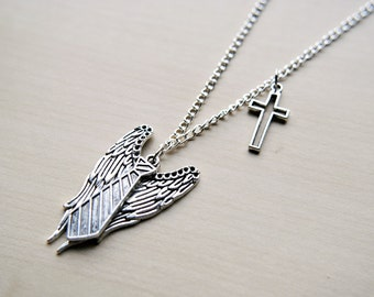 Castiel Necklace -- Supernatural Inspired -- Angel -- Supernatural Jewelry -- Cas -- Original Design
