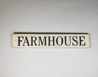 Handpainted Wood Sign, Farmhouse Typography Word Sign, Painted Sign, Home Decor, Farmhouse Shabby Chic Distressed Stained Sign Art