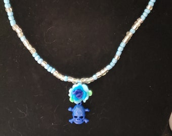 Skull flower necklace