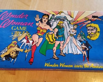 Vintage Wonder Woman Saves the Amazonians Hasboro Board Game 1973