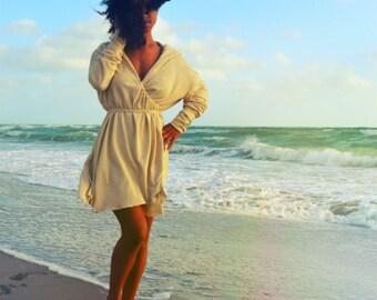 The Wanderlust Wrap Jacket/Dress in Hemp/Cotton Jersey. Made to order.