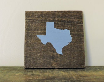 """Any Color, Any State, Custom State Wall Art, Texas, Longhorns, Aggies, 5""""x 5"""", Baylor"""