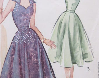 Fall Evening Dresses 1950s