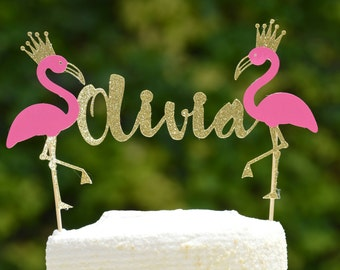 Personalized Flamingo Cake Topper,Flamingo Cake Topper,Flamingo Party Decor,Lets Flamingle Bachelorette Party,Birthday Party,Bridal Party