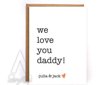 Fathers day card from kids, fathers day card funny, greeting cards, birthday cards, fathers day card from wife, personalized card GC226