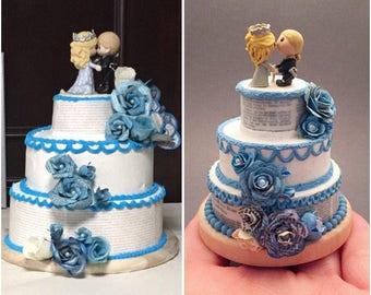 Wedding cake replica wedding cake ornament st anniversary