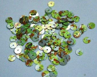 100 Orange Green Silver Color  Sequins/PRS156