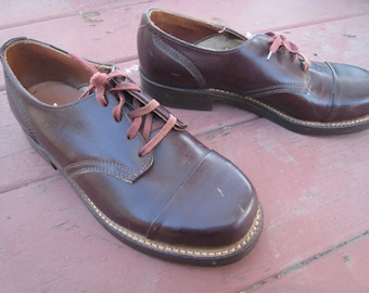Vintage NOS Boys Leather Shoes Found in a Time Capsule Department Store Labeled Flexible Welt