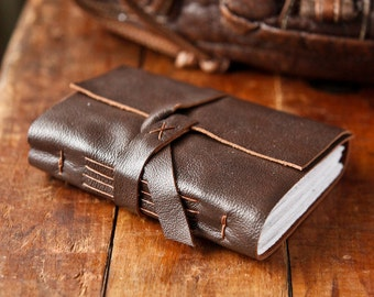 Handmade Brown Leather Journal - The Traveler