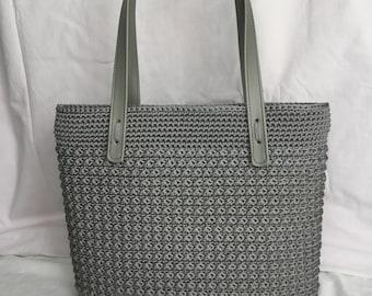 Shopper bag, Hand made bag, Chrochet bag