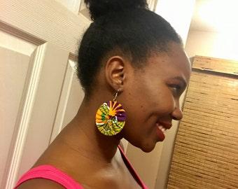 African Fabric Earrings/Fabric Earrings/Kitenge earrings