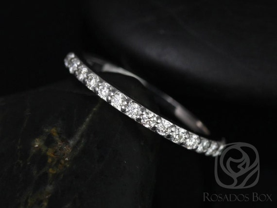 Rosados Box 14kt White Gold Matching Band  to ALL Taylor Diamond HALFWAY Eternity Band