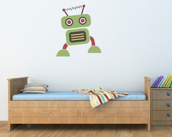 Robot Wall Decal - Boy Bedroom Wall Art - Children Wall Decals - Printed Decal - 1
