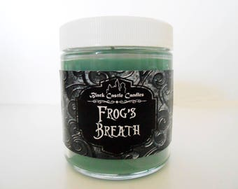 Frog's Breath Candle - Tim Burton's Nightmare Before Christmas Inspired - Black Castle Candles - Soy-blend Wax - 4 oz Container
