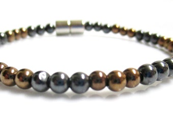 Magnetic Hematite Copper Anklet