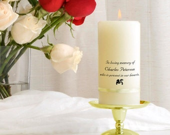 Personalized Memorial Candle - Wedding Memorial Candles - GC325