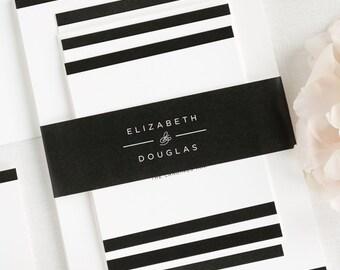 Modern Glamour Wedding Invitations - Deposit