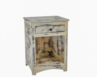 Small Rustic Accent Table With Drawer