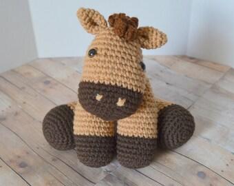 Pony Plush, Horse Stuffed Animal, Amigurumi, Crochet Animal, Plush Toy, Made to Order