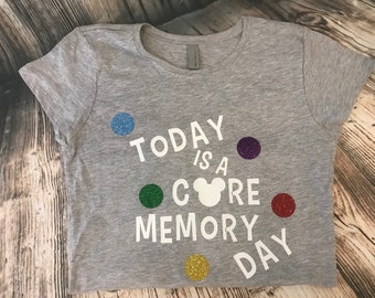 Disney Inside Out inspired Today is a Core Memory Day shirt Tee tank, Joy Saddness Fear Disgust Anger Epcot Pixar