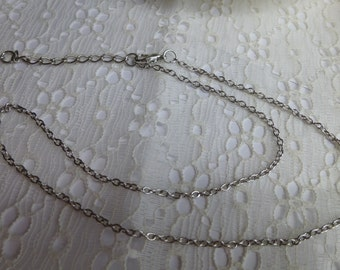 Antique Silver Adjustable Cable Chain in 16, 18 and 20 inch Chain necklace Replacement Chain Replacement necklace Silver chain