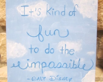 Canvas Painting - Walt Disney Quote