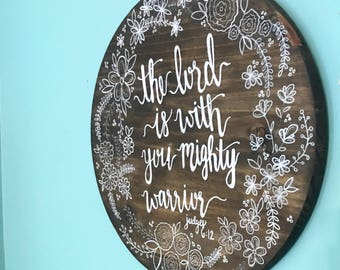 Personalized circle wood sign!