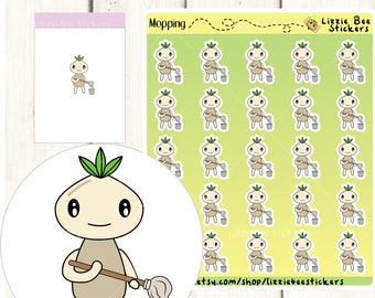 Mopping Functional Planner Sticker