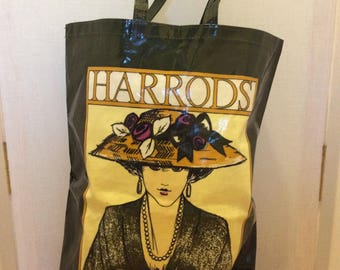 Harrods shopping bag funky tote made in England market