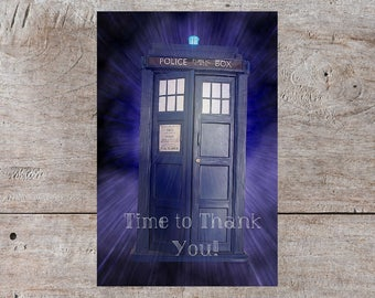 Dr Who Thank You Card, Dr Who Thank You, Doctor Who Thank You Card, Dr Who Card, Doctor Who, Pun Card