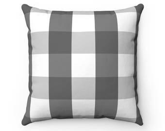 Charcoal Buffalo Check Pillow Case