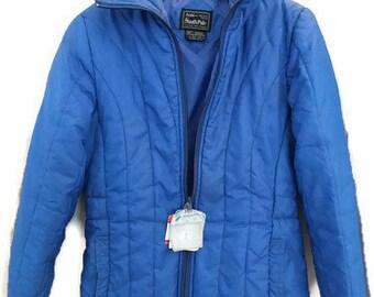 SKI Jacket Hipster Jacket Vintage Jacket Blue Women's Jacket