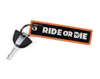 Ride Or Die Key Tags by KeyTails Bmw S1000 rr Ducati Ktm gsxr cbr Ninja Yamaha Honda Kawasaki Suzuki Motorcycle Keyring Keychain