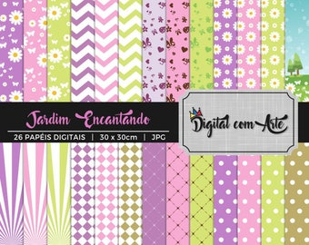 50% OFF - Enchanted Garden Digital Paper