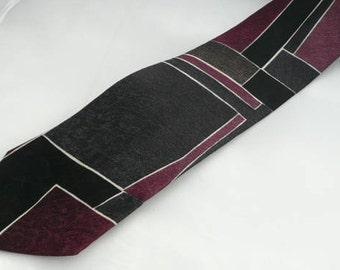 Vintage Silk 100% Necktie,Suprematic patern silk tie, designer tie,Man exquisite necktie