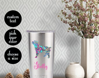 Cockapoo Patterned Decal with Customizeable Name Text