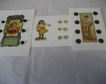 20 Vintage buttons mounted artistically for framing or for use