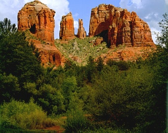 Cathedral Rock Sedona Photo Art Tile By S Nummer