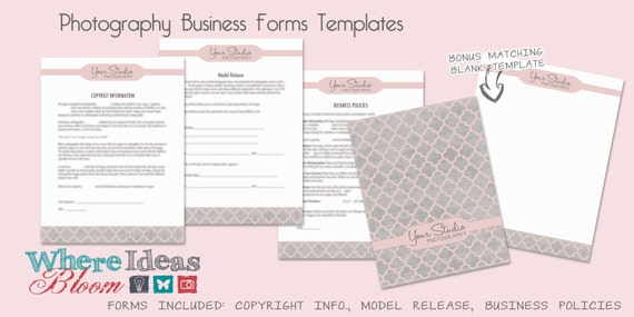 Photography business forms templates 3 patterns to choose wajeb Images