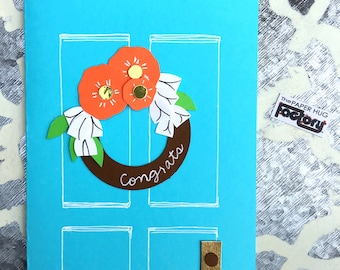 "New Home Card - Congrats on your new home card ""Door Decor"""