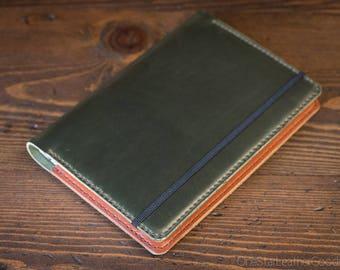 Leuchtturm 1917 Medium (A5) Hardcover Notebook cover - Horween Chromexcel, forest green