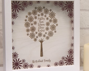 Personalised Engraved Family Tree Wall Art