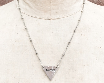 Personalized Triangle Necklace