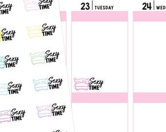 Sexy Time Planner Stickers, Sexy Stickers, Sex Stickers, Sex Planner Stickers