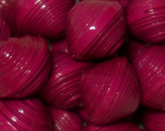 "Paper beads, handmade beads, findings Bijoux.Perles ""Color of the world"" Fuchsia Magenta purple"
