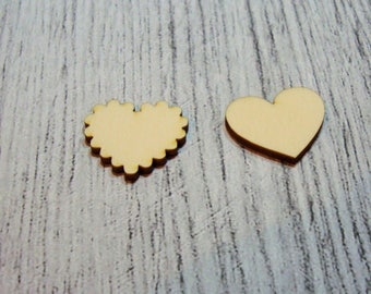 2 hearts 1061 a cut out of wood for your cards