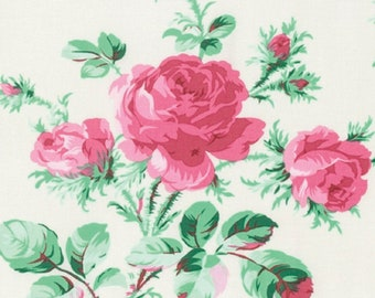 PEPPERMINT ROSE designed by Verna Mosquera for FreeSpirit - bty - item #PWVM174.0DOVE